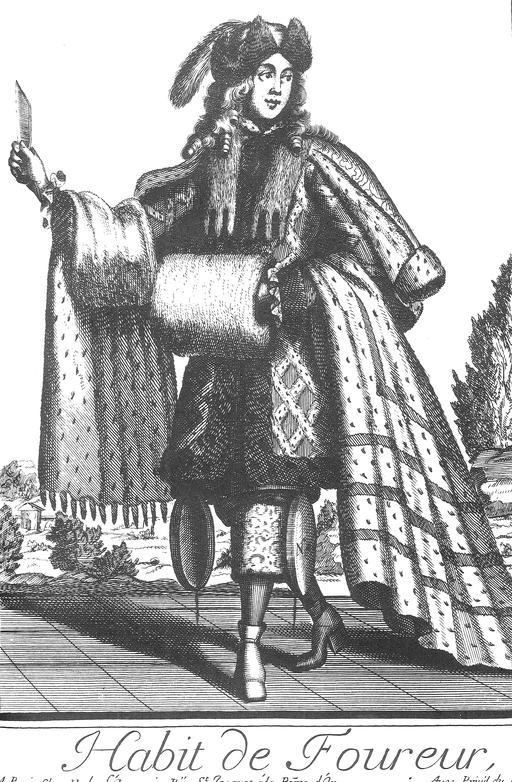 Habit de fourreur au 17ème siècle