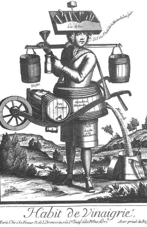Habit de vinaigrier au 17ème siècle