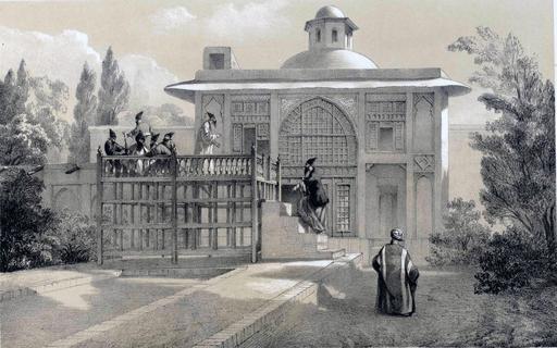 Habitation d'un Khan en Iran en 1840
