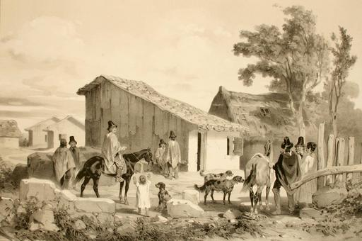 Habitation du cacique à Conception au Chili en 1838