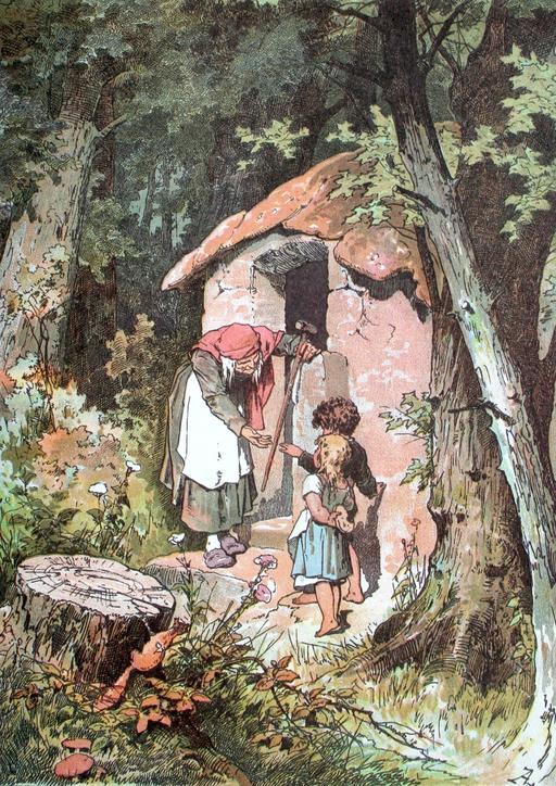 Hänsel et Gretel avec la sorcière
