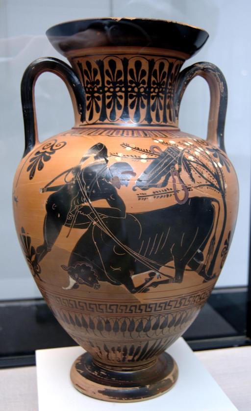 Héraklès et le taureau crétois