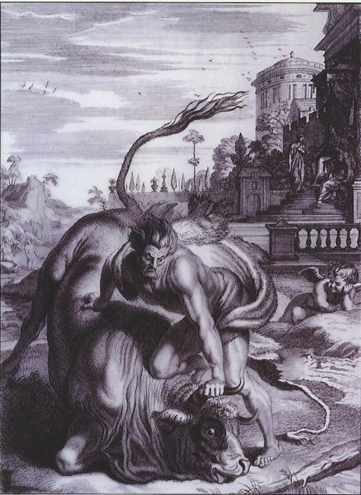 Hercule et le minotaure