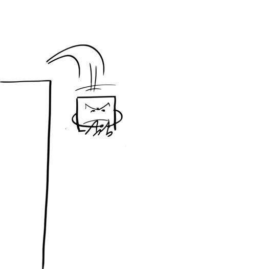 Hervé le carré saute dans le vide