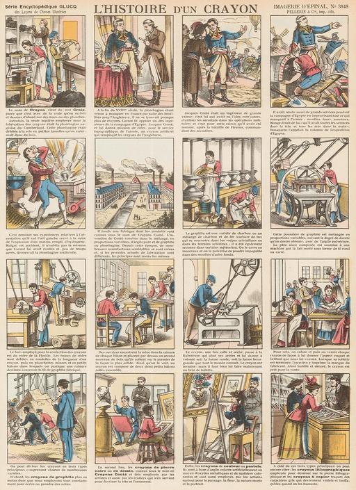 Histoire d'un crayon en seize vignettes