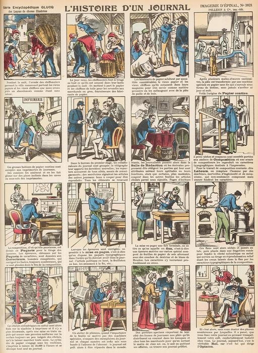 Histoire d'un journal en seize vignettes