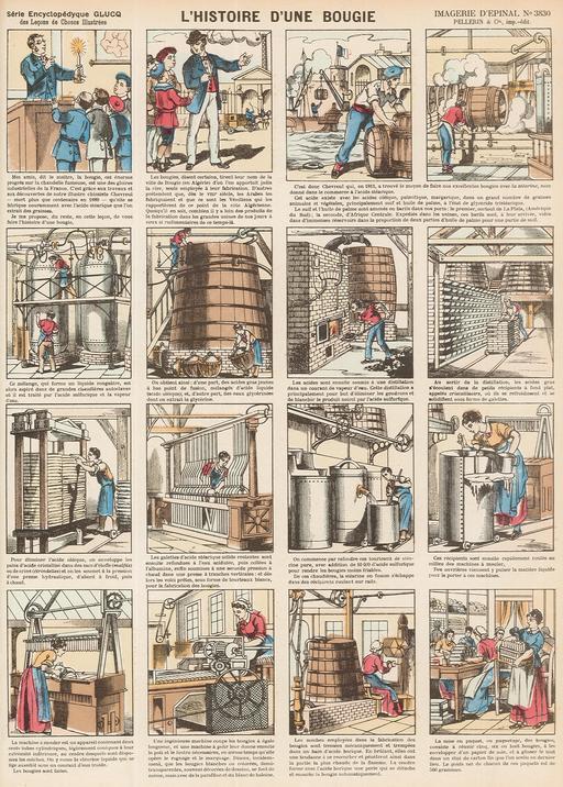 Histoire d'une bougie en seize vignettes