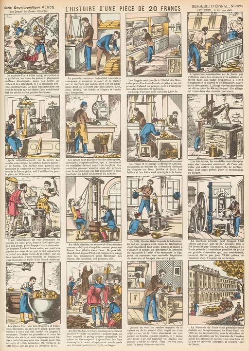 Histoire d'une pièce de 20 francs en seize vignettes