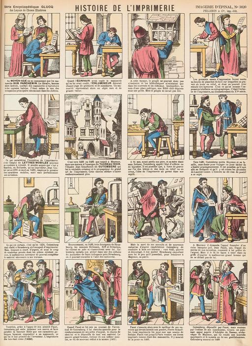 Histoire de l'imprimerie en seize vignettes