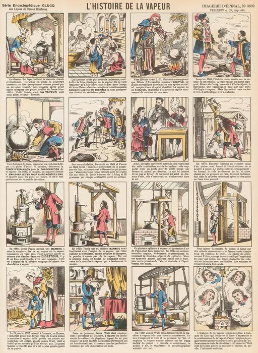 Histoire de la vapeur en seize vignettes