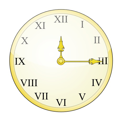 Horloge à chiffres romains