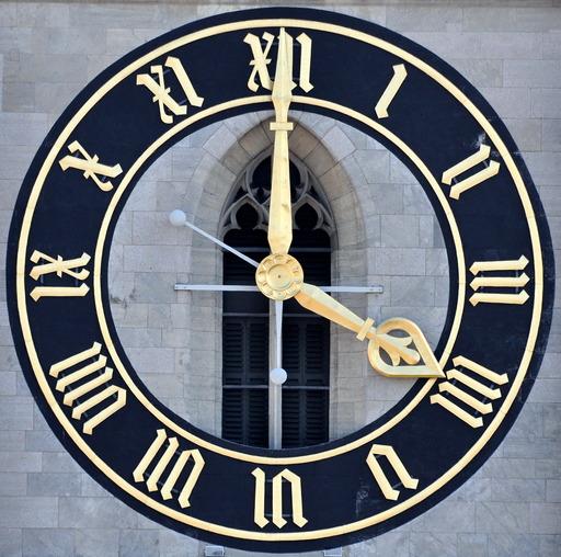 Horloge avec chiffres romains