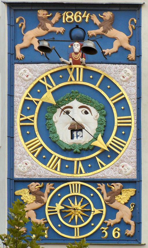 Horloge du château des ducs de Poméranie à Szczecin