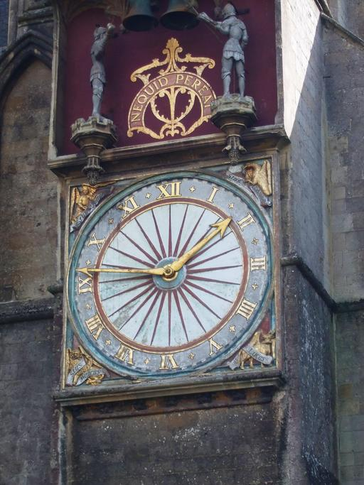 Horloge extérieure de la cathédrale de Wells