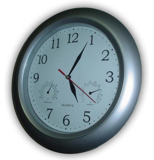 Horloge murale avec baromètre et thermomètre