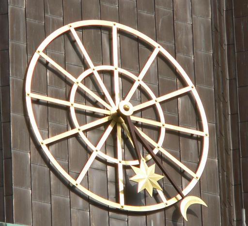 Horloge sans chiffres à Hambourg