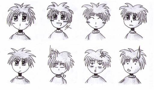 Huit émotions à la mode manga