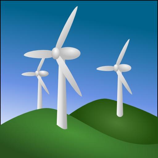 Icone d'éoliennes