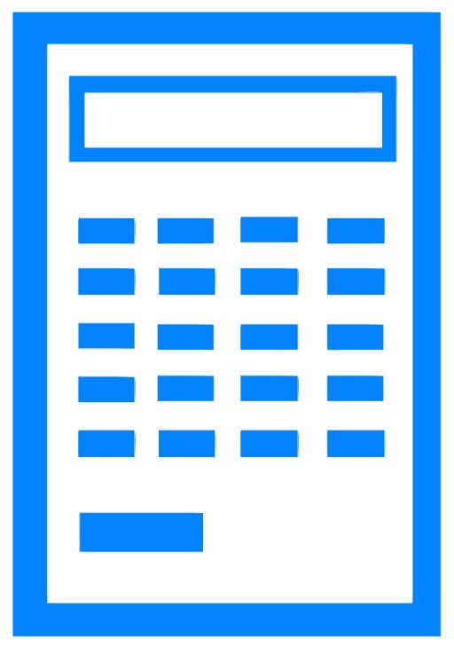 Icone de calculette vierge