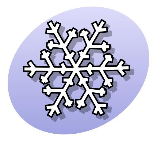 Icone de flocon de neige