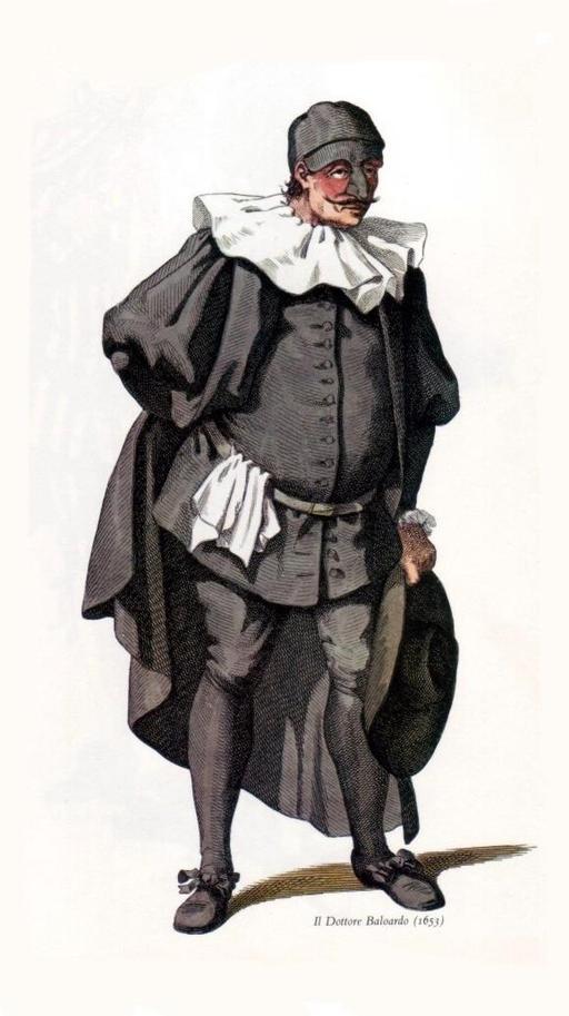 Il Dottore Balanzone en 1653