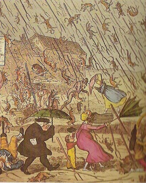 Il pleut des cordes en Angleterre