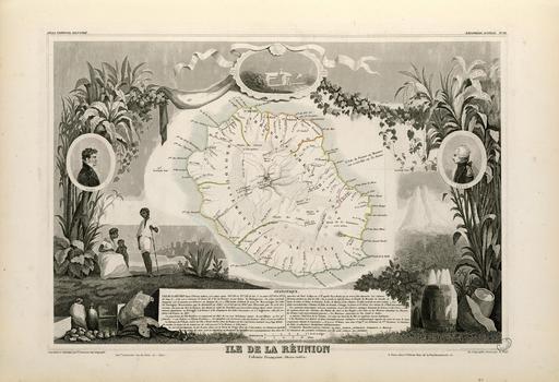 Ile de la Réunion en 1854