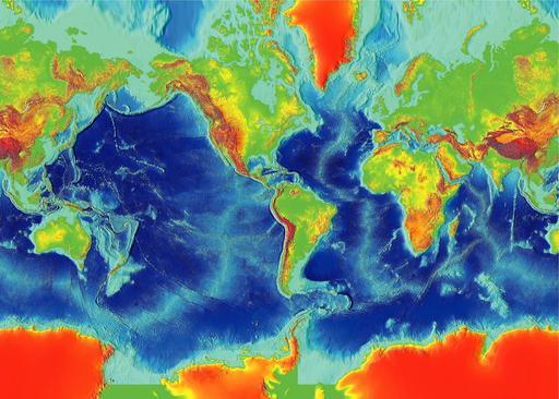 Image de la surface de la terre