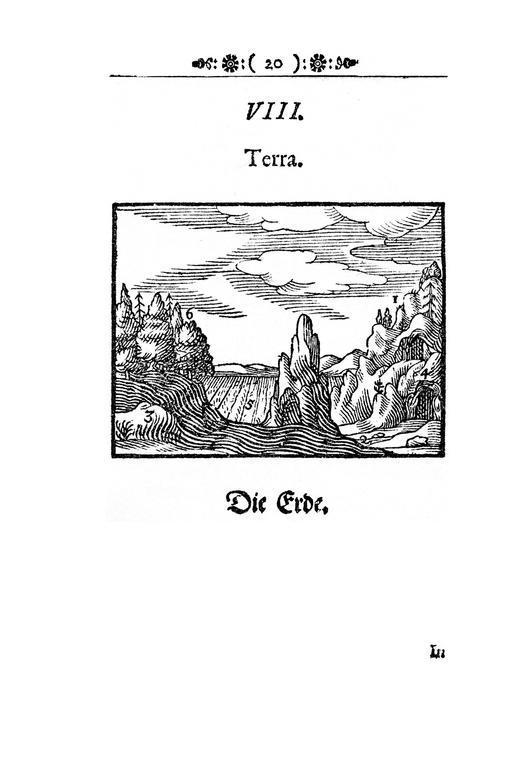Image de la Terre en 1658
