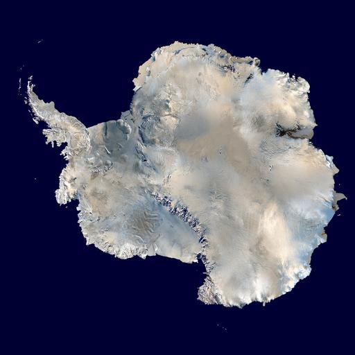 Image satellite de l'Antarctique