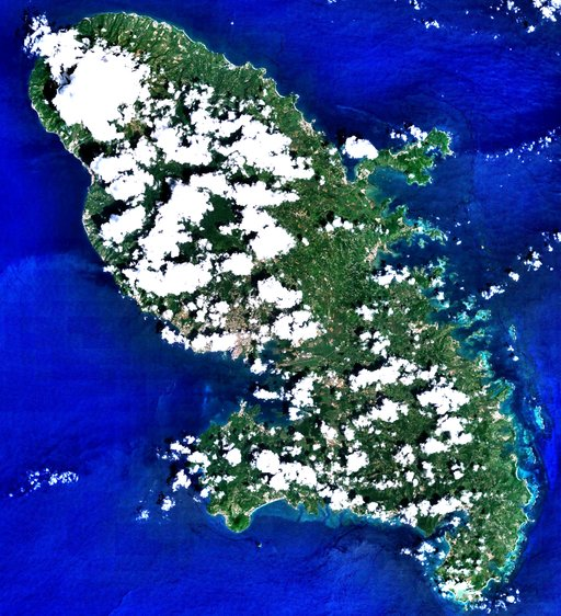 Image satellite de la Martinique