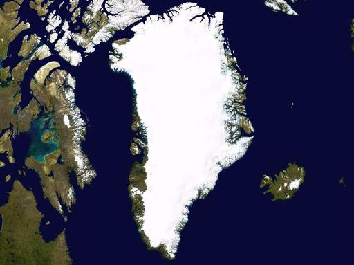 Image satellite du Groenland