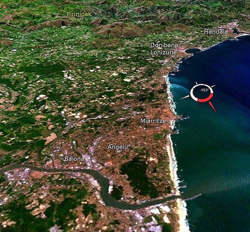 Image satellite du Pays Basque au sud de l'Adour