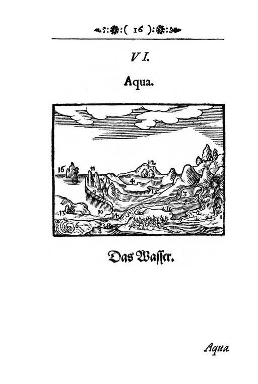 Images de l'eau en 1658
