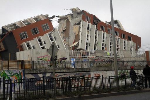 Immeuble après tremblement de terre