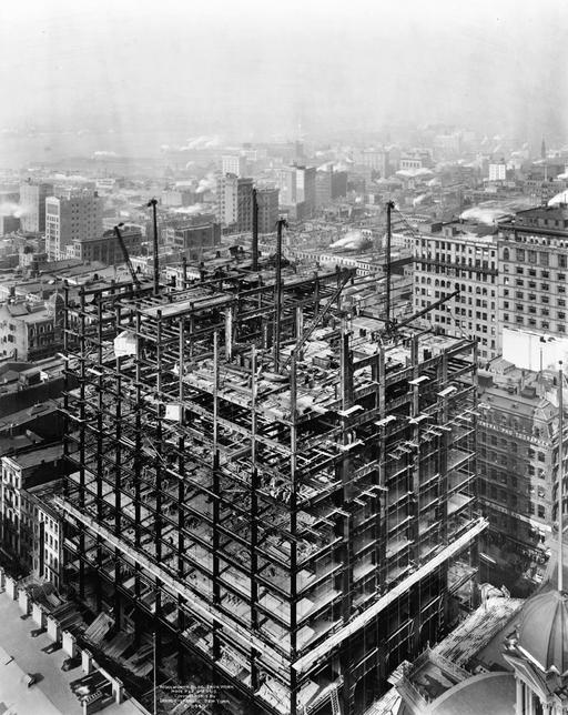 Immeuble en construction à NY en 1912