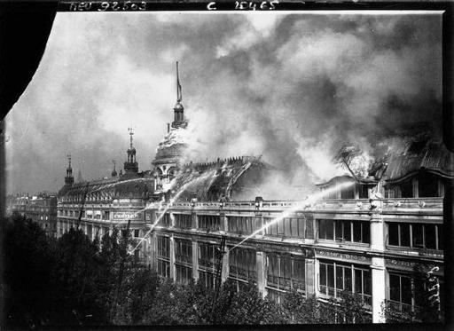Incendie au Printemps en 1881
