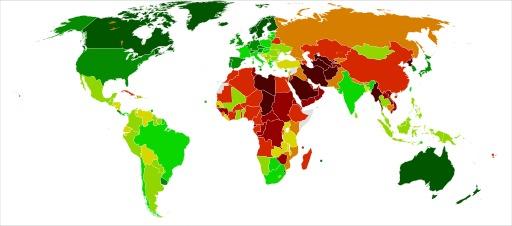 Index démocratique des pays du monde en 2010