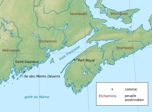 Indiens en Acadie en 1604-1607