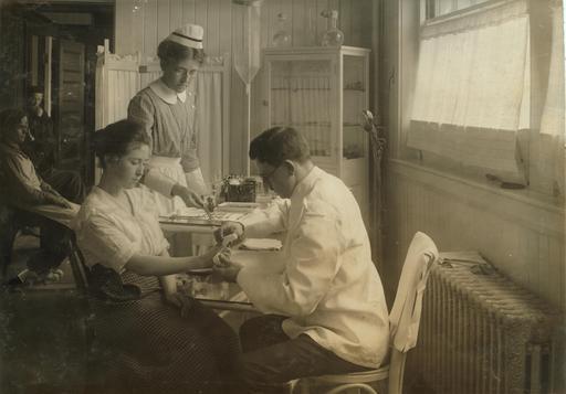 Infirmerie américaine en 1917