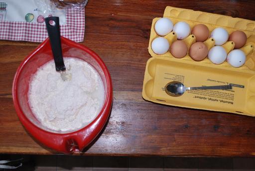 Ingrédients pour pâte à crèpes