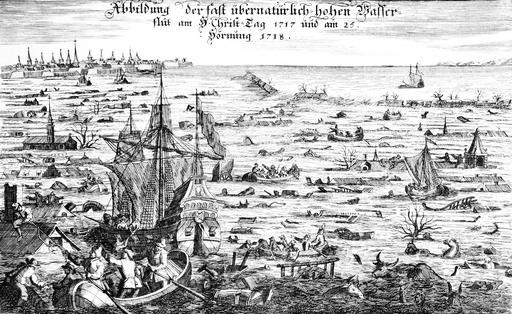 Inondation en Hollande en 1717