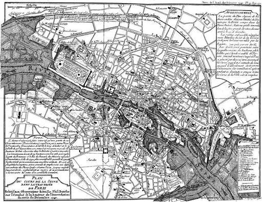 Inondations à Paris en 1740