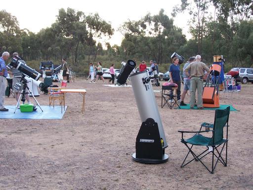 Installation de téléscopes d'observation