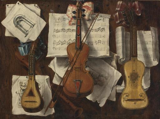 Instruments de musique en trompe-l'oeil