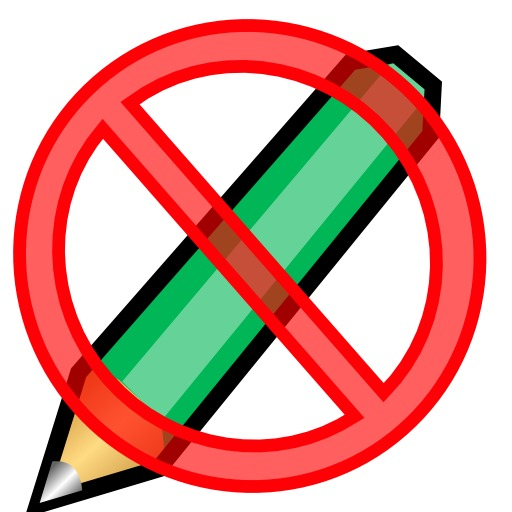 Interdiction d'écrire