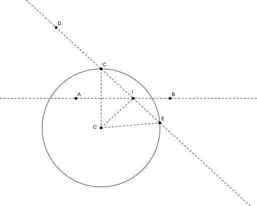 Intersection de deux droites