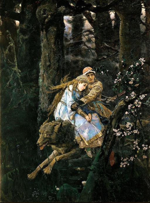 Ivan Tsarévitch sur le loup gris