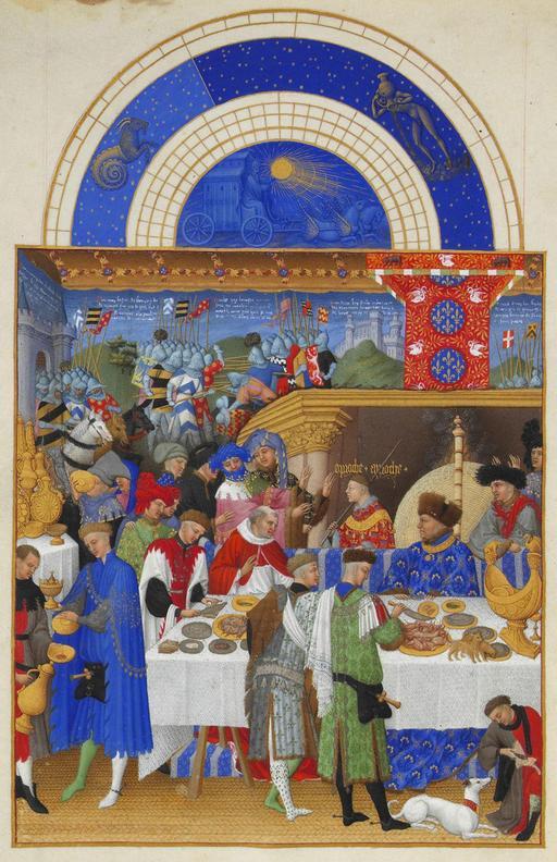 Janvier dans Les Très Riches Heures du Duc de Berry