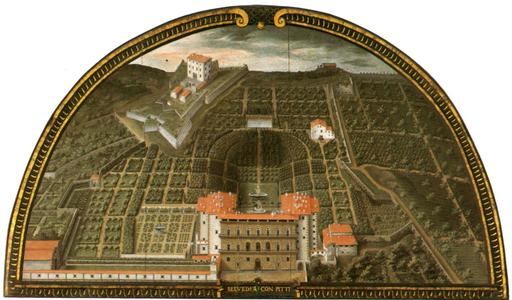 Jardin et palais florentin